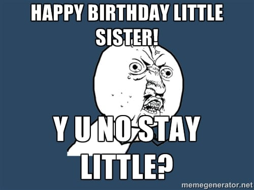 Happy Birthday Sister Funny Meme Download